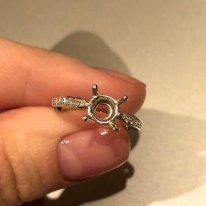 Engagement Solitaire Setting Platinum Diamonds